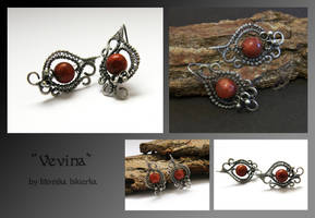 Vevina- wire wrapped earrings by mea00