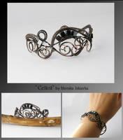 Cellest- wire wrapped bracelet by mea00