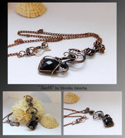 Saeth- wire wrapped necklace by mea00