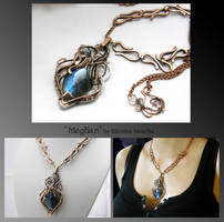Meghan- wire wrapped copper necklace by mea00
