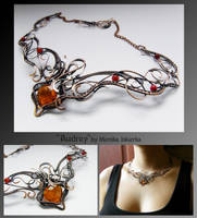 Audrey- wire wrapped copper necklace by mea00