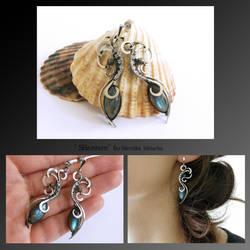 Shannon- wire wrapped silver earrings by mea00