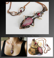 Gunna- wire wrapped copper necklace by mea00