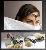 Tiara- wire wrapped copper by mea00