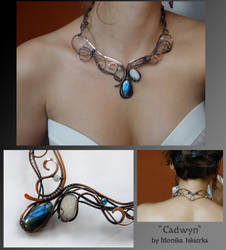 Cadwyn- wire wrapped copper necklace by mea00