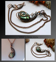 Ishild- wire wrapped copper necklace by mea00