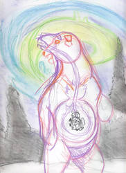 Polar bear concept picture by calzephyr