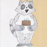 Quickie Raccoon Card by calzephyr