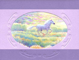 Recycled Horse Card by calzephyr