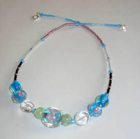 Blue Flower Necklace 2 by calzephyr