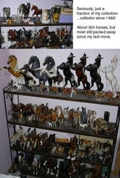 My model horse collection... by calzephyr