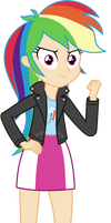 Rainbow Dash styled as Sunset Shimmer by sebisscout1997