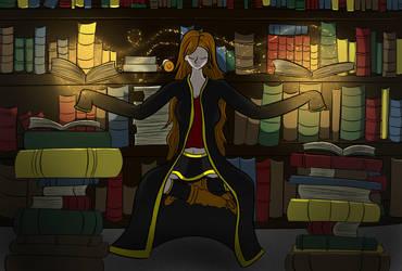 Techanu in library by kairin-rokuro