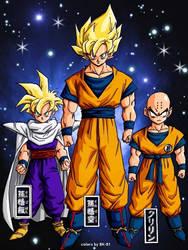 Gohan, Goku Krilin by BK-81