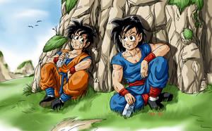 Son Gorin and Son Gocha by BK-81