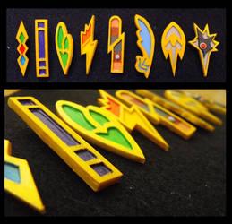 Unova Pokemon Badges by DoyleDesigns