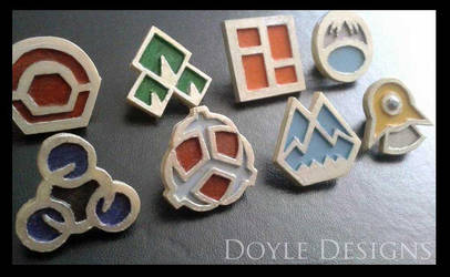 Sinnoh Pokemon Badges by DoyleDesigns