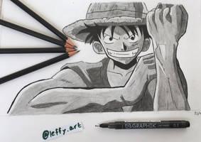 Monkey D. Luffy Drawing by Leffyart