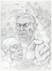 Gollum and orc by marisoly