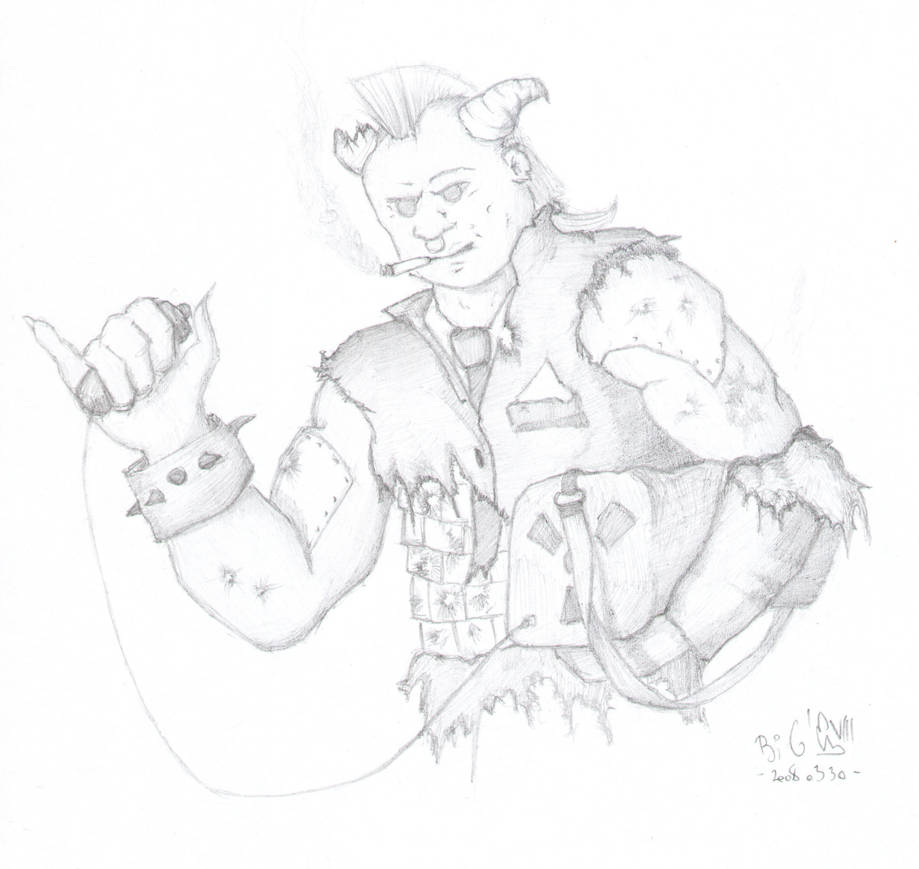 Shadowrun Troll with Nuke by huncyrus