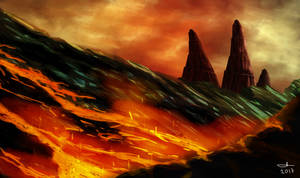 Fire Mountain by Caridis