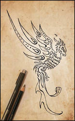 phoenix tattoo design by johngiannis27