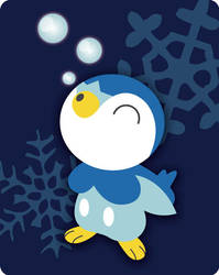 Happy Piplup by MarkiSan