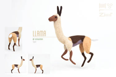 [NF] Alto's Adventure Llama by ZimtBeadwork