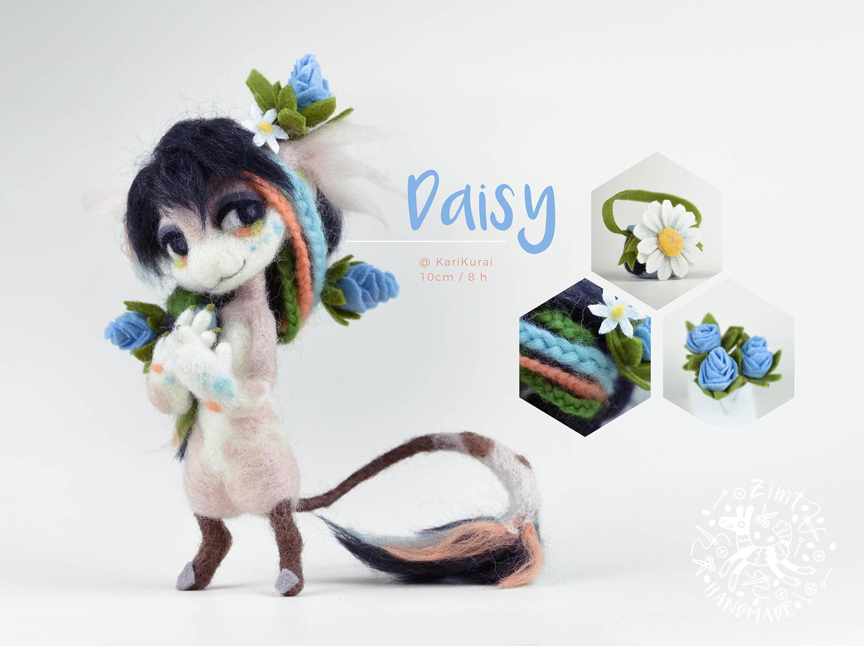 [$] Bagbean Daisy by ZimtBeadwork