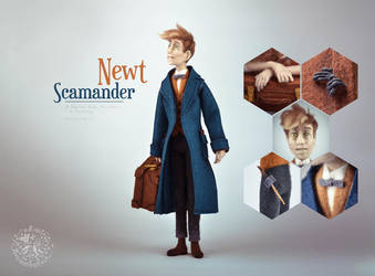 [NF] Newt Scamander by ZimtBeadwork