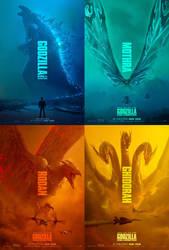 All Godzilla KOTM Titan Posters by Goji1999