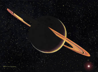 Saturn (with Titan and the sun) by DouglasCastleman