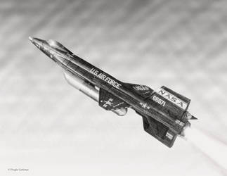 North American X-15 by DouglasCastleman