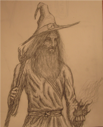 Wizard Sketch by FrenzyAttack