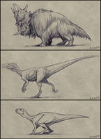 Extinct Sketches Dump 2 by mrXylax