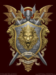 Coat of Arms- Delacroix by GoldenDaniel