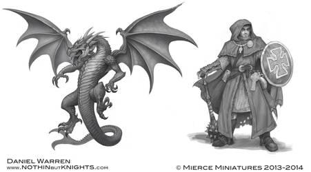 Darklands- Dragllai and Monk by GoldenDaniel