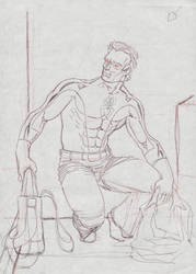 Peter Parker rough by visualelephant