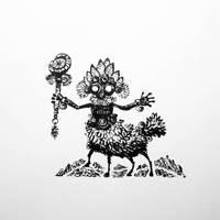 Shaman centaur by Dendroabates
