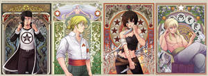 Mala Estrella Characters Artnouveau by HenarTorinos