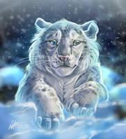 Snow Leopard Cub by ISHAWEE