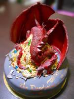 Smaug Cake by CutieFlame