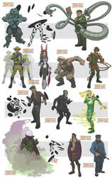 awesome spiderman villains IV by DC-Miller