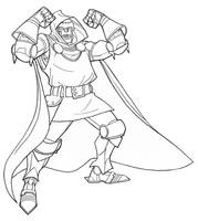 Dr Doom line by jimmymcwicked