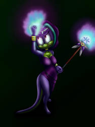 Thanjas evil power by ChiptheHedgehog