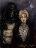 Darth Revan and The Exile by DancinFox