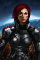 Commander Jane Shepard by DancinFox