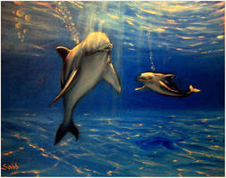 Friends in Freedom of Blue by sabb-art