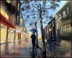 Rain Walk by sabb-art