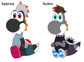 King Coal and Nicole's two newborns by yoshiLover1000
